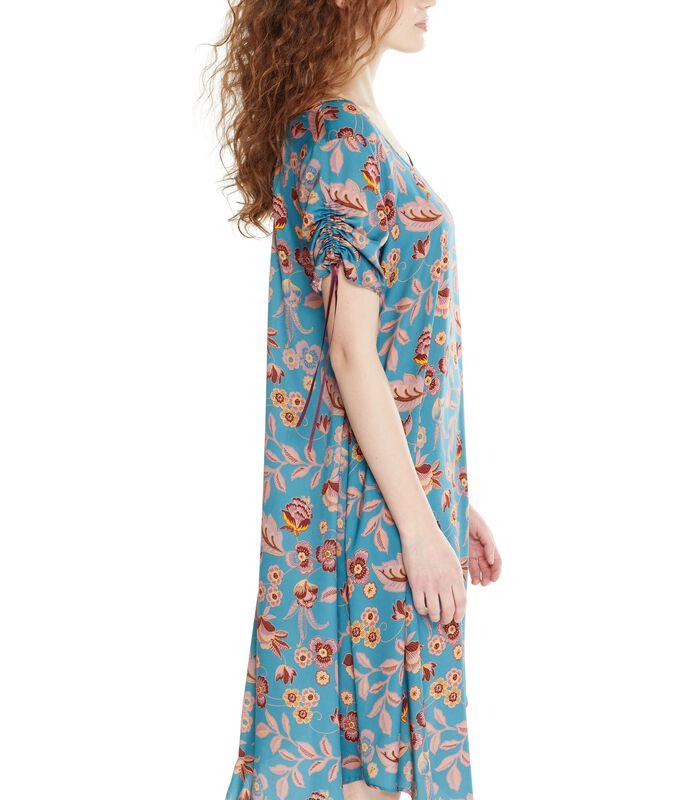 Asymmetrische jurk ROSAFA met bloemenprint image number 4