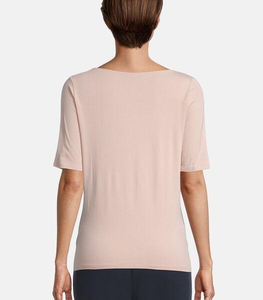 Basic shirt met watervalhals
