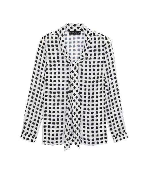 SLASH Bedrukt lavaliere kraag overhemd