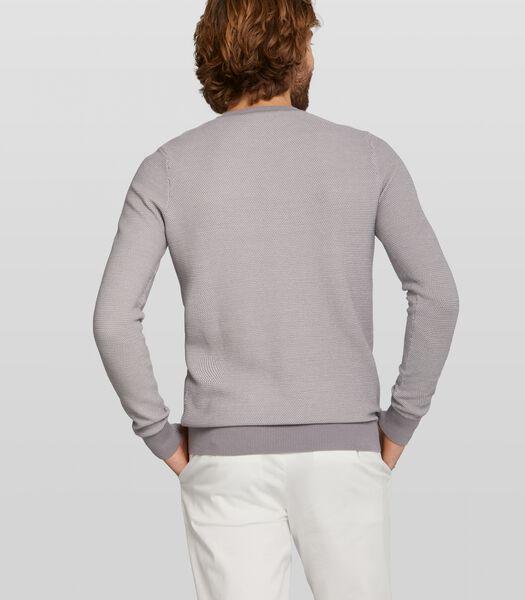 gemeleerde pullover Carnell van katoen
