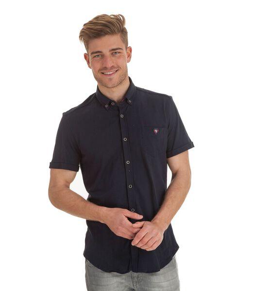 Overhemd in piquéstof
