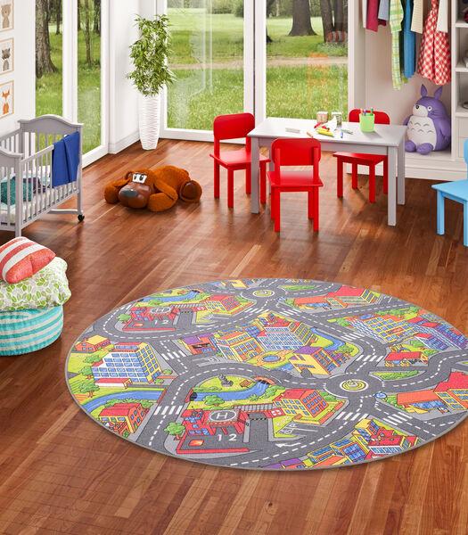 Kinderspeeltapijt Kleine Stad 3D Rond