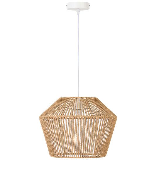 Hanglamp Caspian - Bruin/Wit - Ø40x30 cm