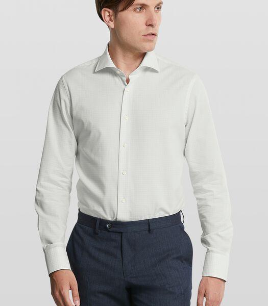 Dobby shirt met geruit dessin