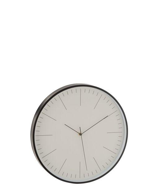 Horloge Gerbert Aluminium Noir