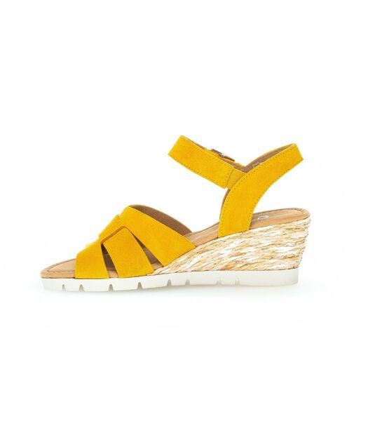 Sandales mangue en velours