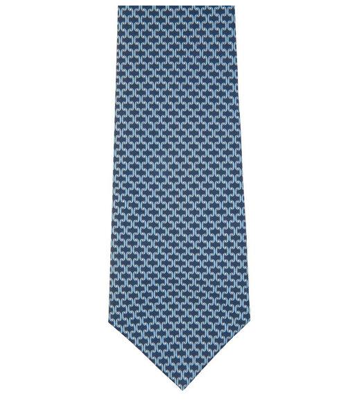 Cravate à motifs celliers en soie