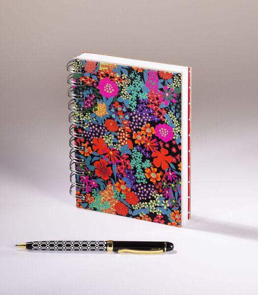 Jardin fleuri - Notitieboekje A6  mix van rode en
