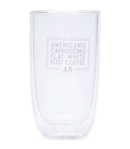 Love Coffee Double Wall Glass L