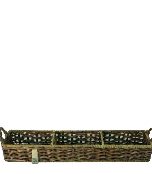 Rustic Rattan Rectangular Basket