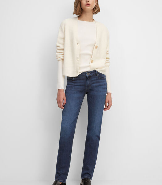 Jeans model ALBY straight van een mix met organic cotton