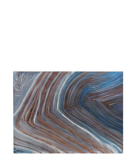 Peinture Vagues Bleu/Marron/Gris