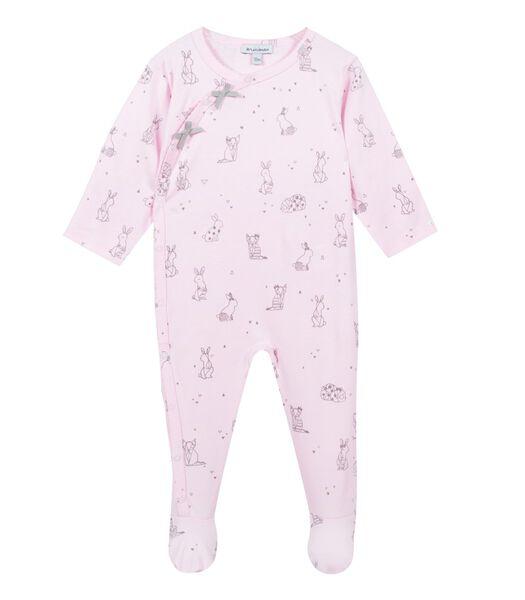 Pyjama met voetjes dierenprint