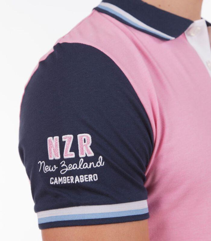Polo in jersey tweekleurig roze image number 4