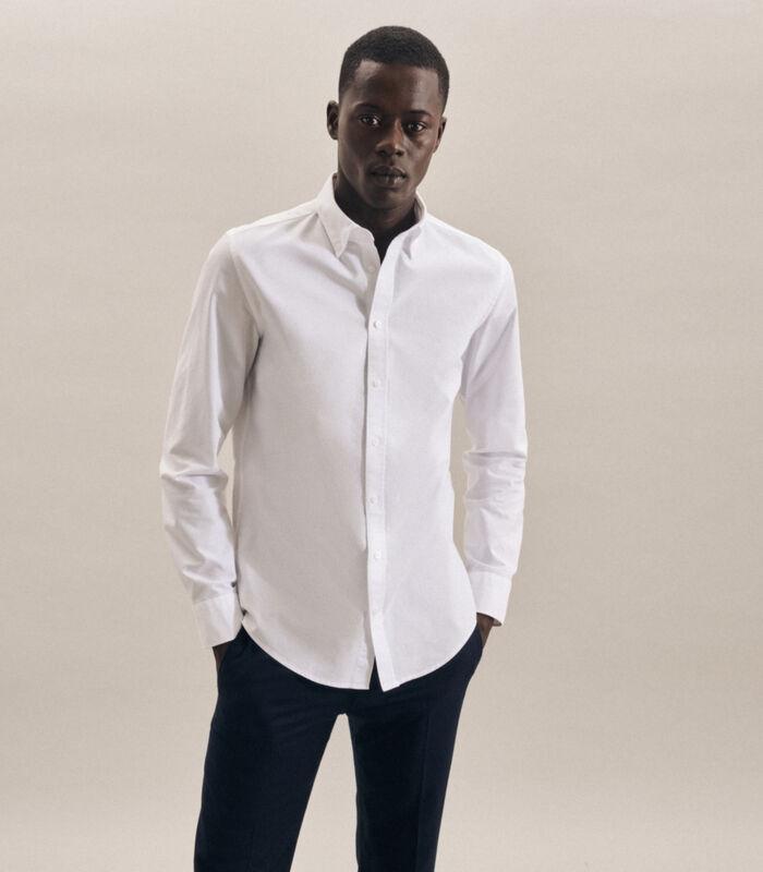 Overhemd Slim Fit Lange arm Uni image number 0