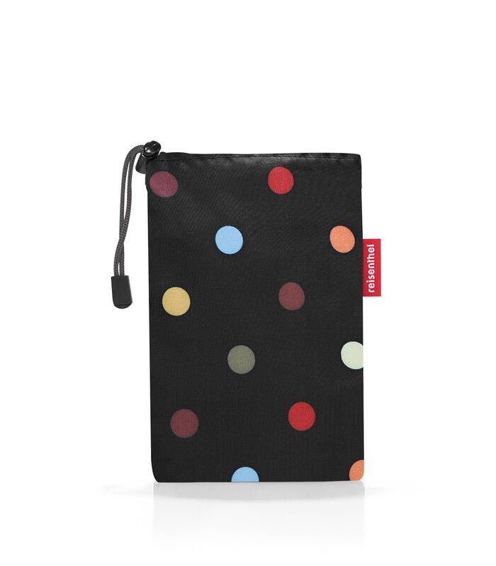 Mini Maxi Poncho - Regenponcho - Dots Zwart image number 1