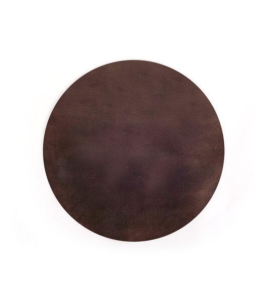 ELLIS onderlegger rond donker bruin