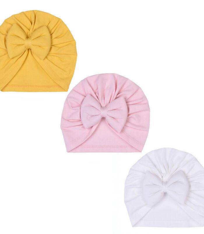 Set 3 pièces - Turban bébé en coton biologique, JADE image number 1