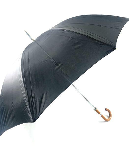 Parapluie Golf uni noir courbe poignée bois