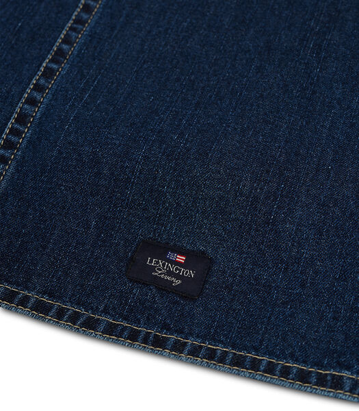 Tafelloper Icons in katoenen keperstof denim