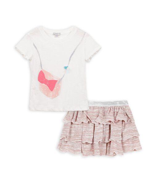 Set met t-shirt en rok
