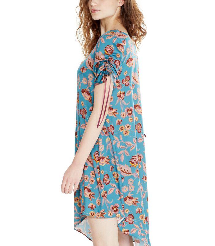 Asymmetrische jurk ROSAFA met bloemenprint image number 3