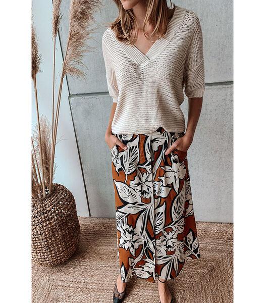 Mooie rok in een trendy retro dessin