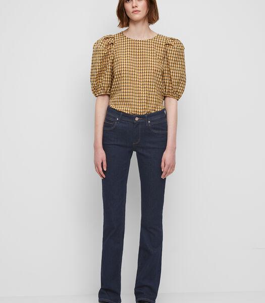 Jeans model NELLA bootcut mid waist van authentiek denim