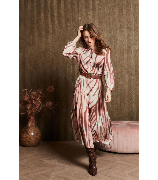 Prachtige maxi dress in zachtroze tinten