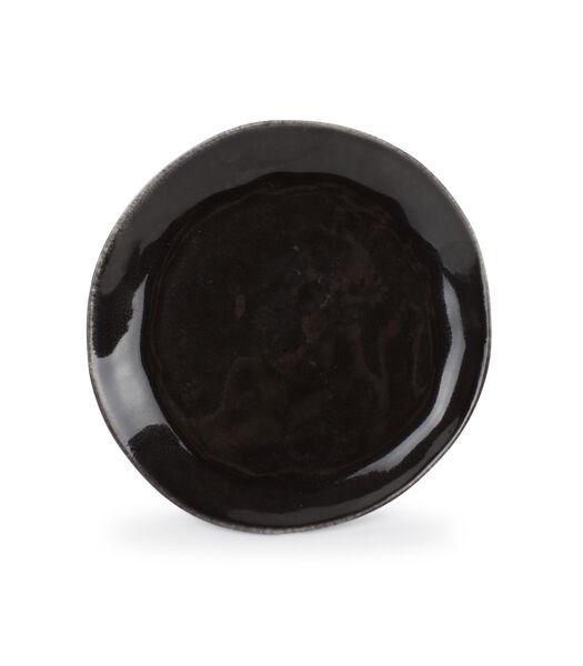 Assiette plate 20cm coupe noir Artisan - set/4