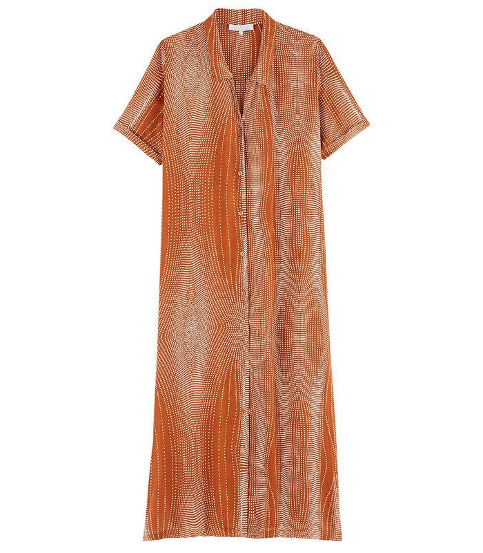 Bambou - Homewear lange Jurk viscose image number 3