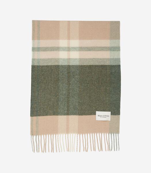Geweven sjaal in groot formaat