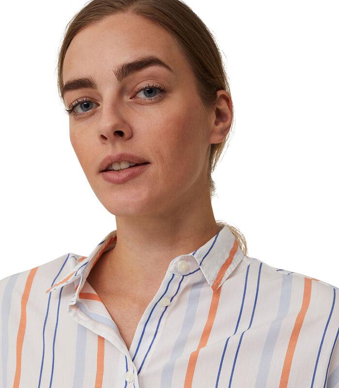 Overhemd Edith gestreept popeline image number 4