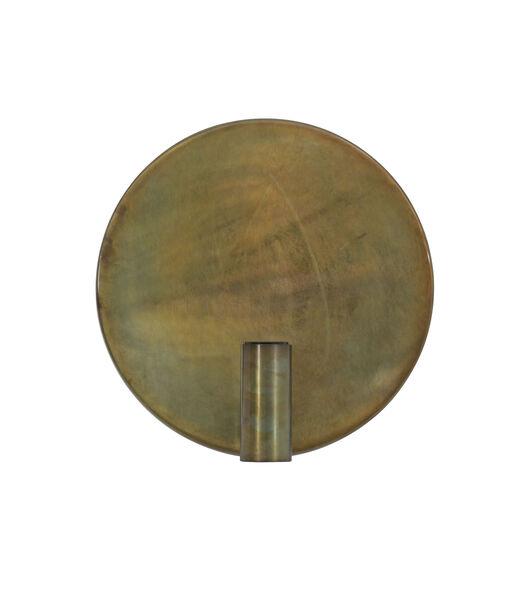 Wandlamp DISC - goud-grijs
