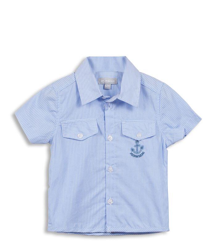 Gestreept hemd met zakken image number 0