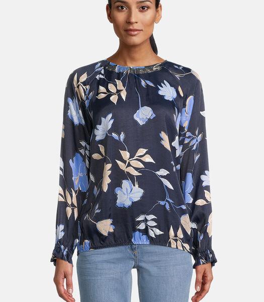 Blouse in shirtstijl met bloemenprint