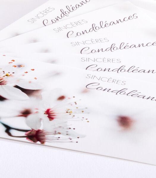 Hangpakjes met 6 enkele kaarten Sympathy - Sincère