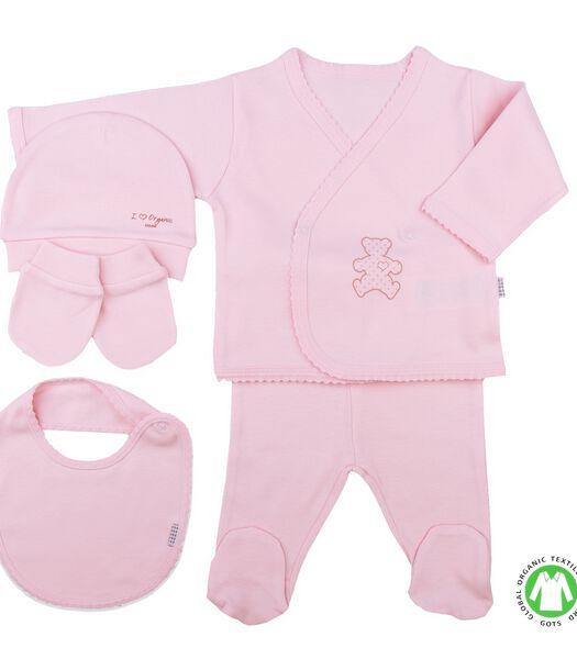 Biologisch katoenen baby kleertjes set  5 stuks
