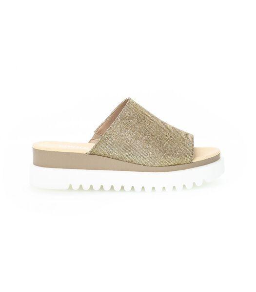Sandales   en cuir métalisé