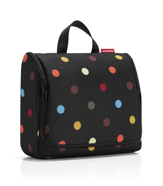 Toiletbag XL - Toilettas - Dots Zwart