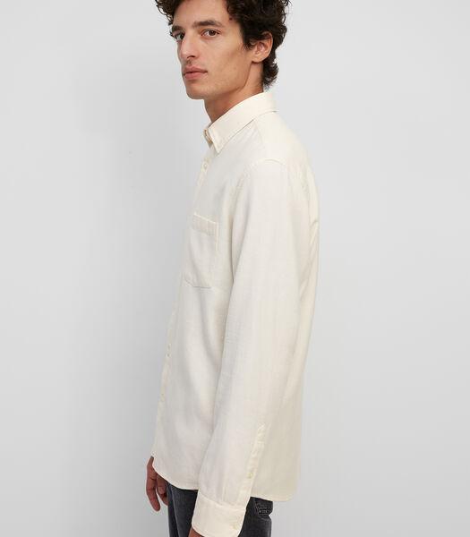 Chemise Regular Fit à manches longues en fine flanelle