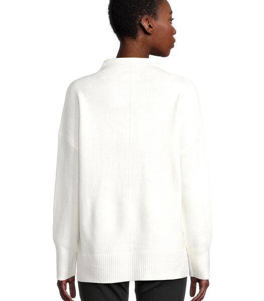 Gebreide trui met zijsplitten