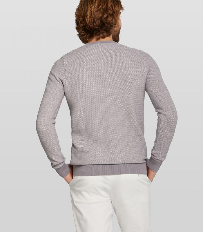 gemeleerde pullover Carnell van katoen image number 1