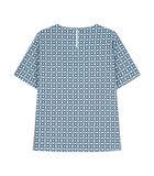 Shirtblouse Print Korte mouwen Ronde Hals image number 1