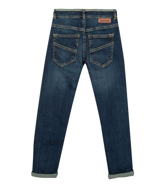 Donkere vervaagde jeans