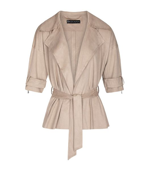 Suede mode trenchcoat J'ADORE