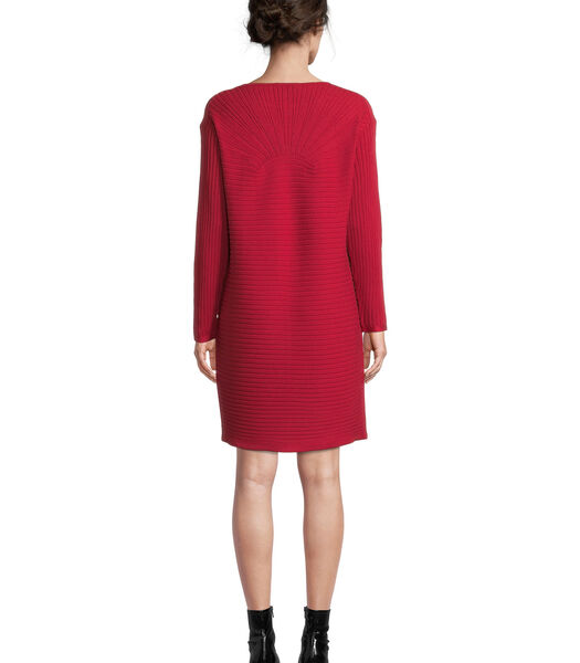 Gebreide jurk met ribstructuur