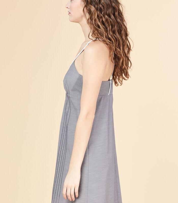 Korte jurk MERITANT met bandjes en ruitjesprint image number 2