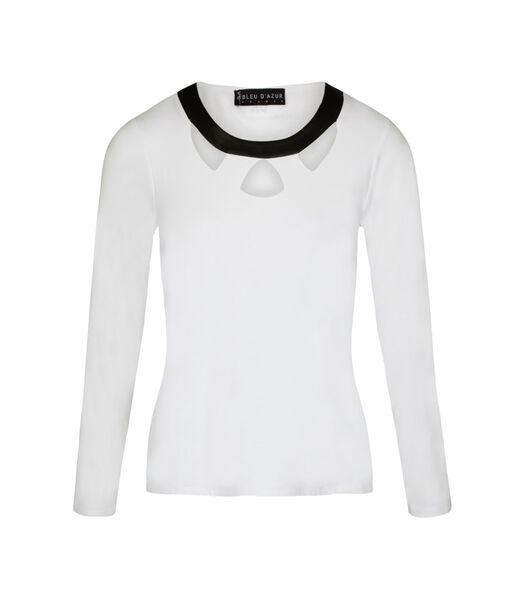 Tshirt tricot kraag nepleer CARA