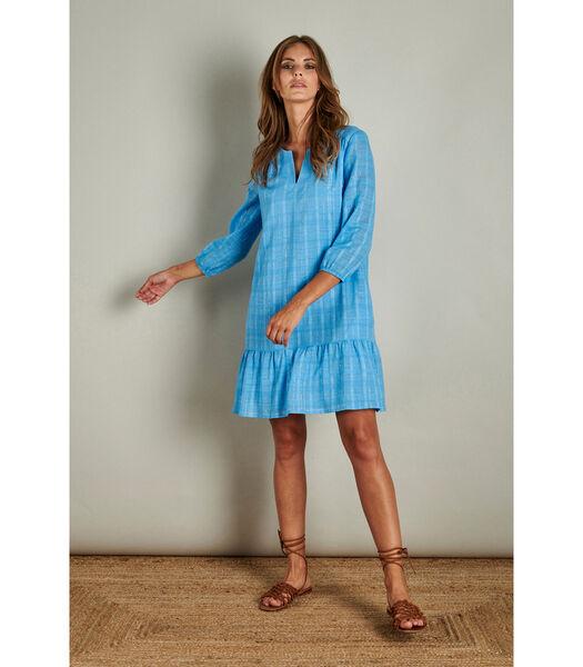 Prachtig losvallend jurkje in lichtblauw